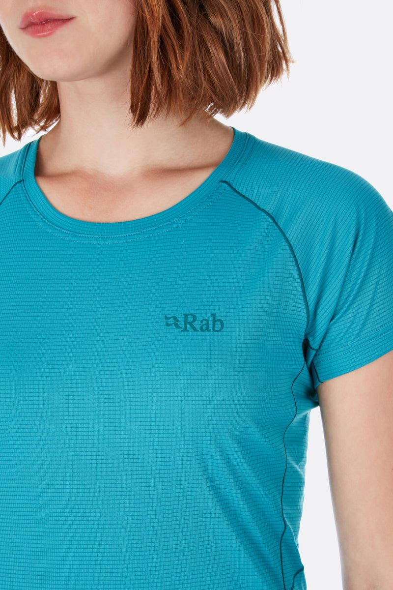 Rab Pulse SS Tee Women ebony 2020 Shortsleeve Shirt
